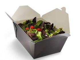 Crne noodle box menu kutije